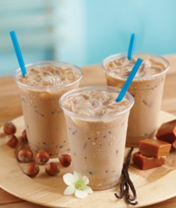 Iced Coffee (image thanks to Torani) notice the ice cubes as opposed to the iced blend in the next pic