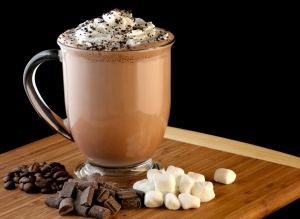 You can put any type of chocolate in a mocha! (image thanks to Cook Diary)