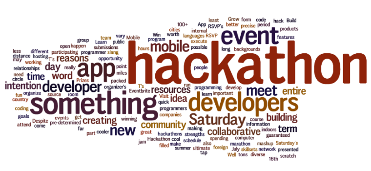Hackathon in one word? (Image credit to API Evangelist)