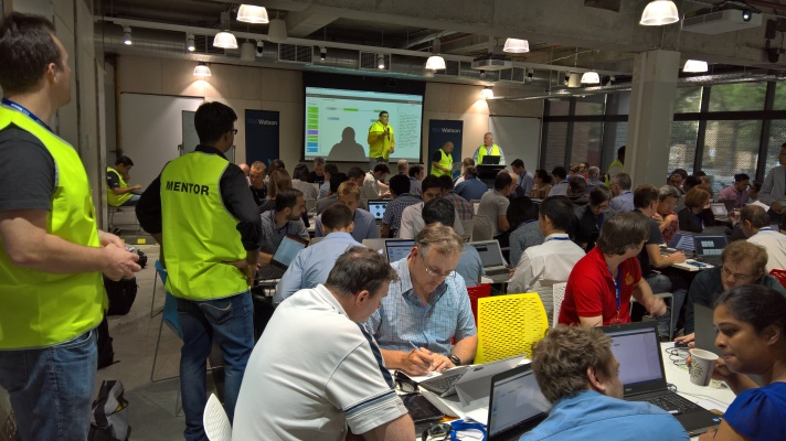 The Hack is Packed. At least we had highly visible mentors who can double as traffic directors.