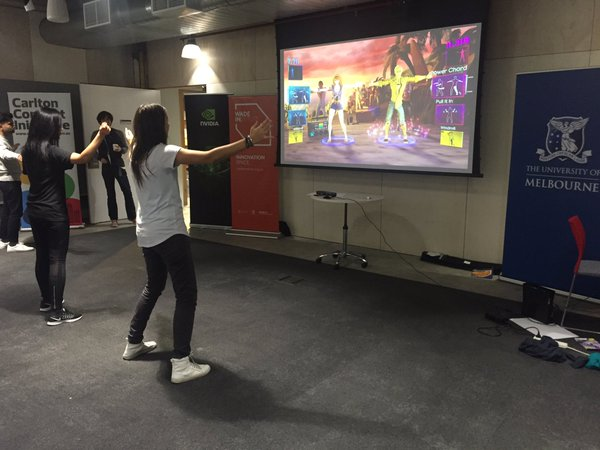 Breaking it down in Dance Central 2. Photo thanks to @Holoverse