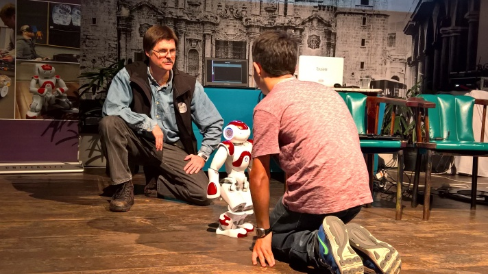 """Nao during """"Life in the Cyber-Physical World"""", presented by Deakin University"""