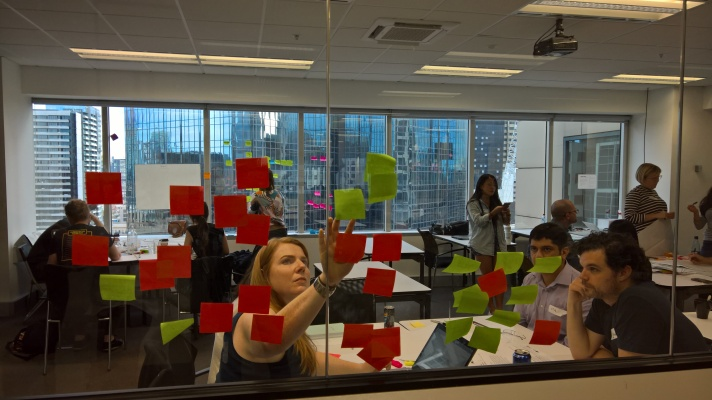 There's no such thing as a hackathon without sticky notes involved.