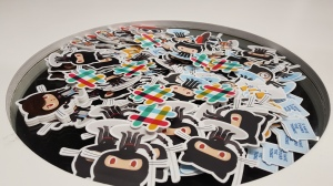 I've almost become Dev Steve with this many stickers!