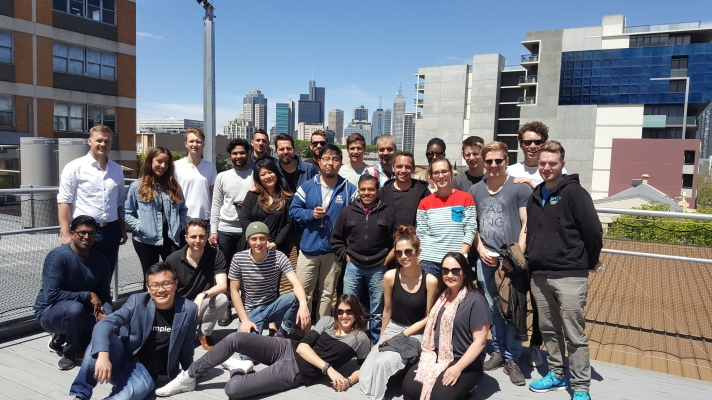 The 2016 MAP cohort atop the roof of LAB-14, the Carlton Connect Initiative