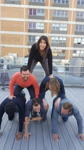Just casually making a pyramid on the roof