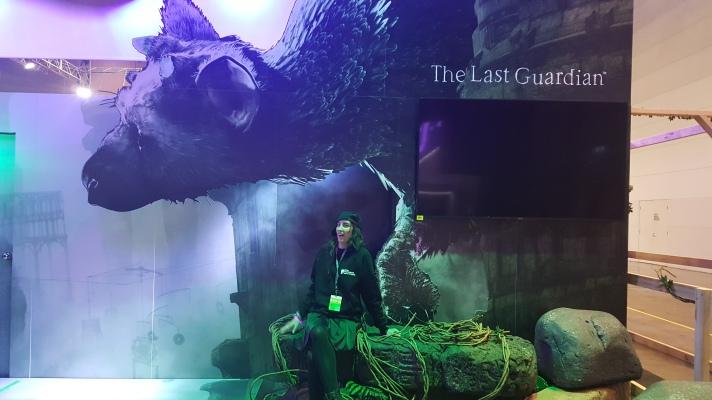 The Last Guardian booth looked incredible